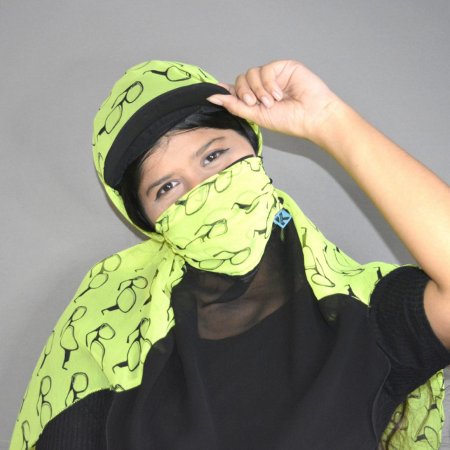 Full face mask scarf, Covering full face with scarf, Scooty Scarf, Sun Protection Scarf Mask , Kavach Mask