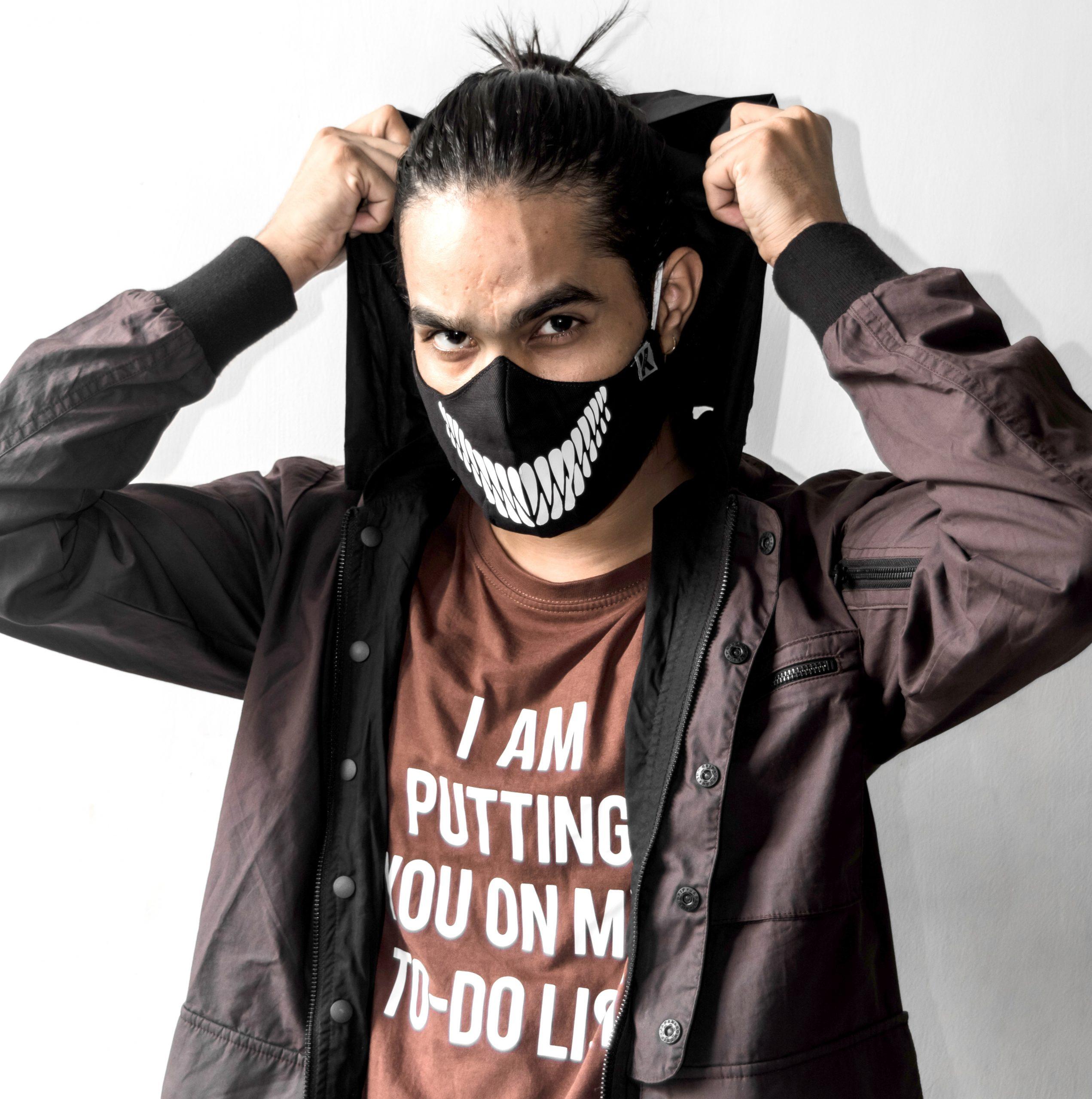 Monster Smile Slogan Mask Kavach Mask Kawach Mask