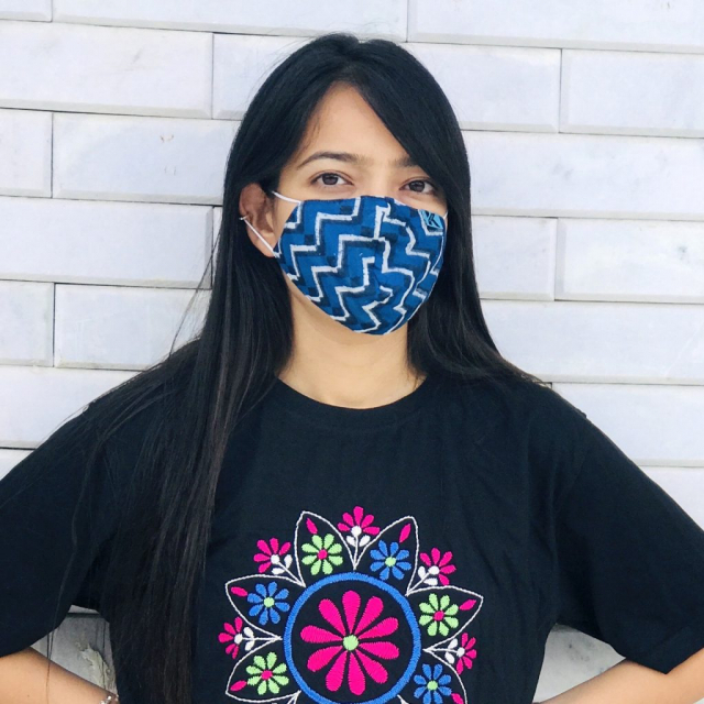 Block Printed Chanderi Silk Indian handloom mask